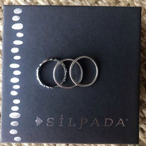 "Silpada ""High Shine Stack Rings"" .925 silver"